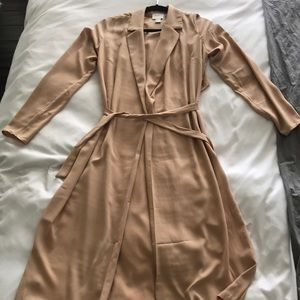 Forever 21 XXI Nude Trench Duster Small
